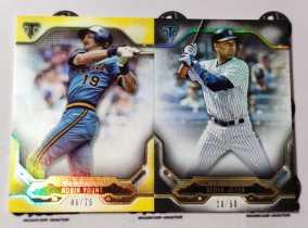 【天龙球星卡】 UNI 2020 MLB TOPPS BUNT系列 带编折射厚卡base打包 YOUNT 75编 JETER 50编 共2张