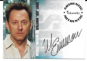 美剧 迷失 Lost 迈克尔·爱默生 Michael Emerson 签字 签名 疑犯追踪