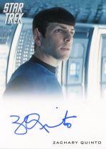 电影 星际迷航 Star Trek Spock 史波克 扎克瑞 昆图 签字 签名