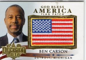 2016 decision 美国大选 美国著名神经外科医生和保守派领袖 本卡森 国旗大patch