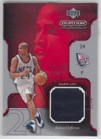 【pp拍卖】2002-03 Upper Deck Ovation Richard Jefferson 理查德杰弗森 球衣