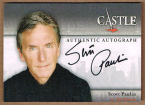 美剧 灵书妙探 Castle Scott Paulin Jim Beckett 签字 签名