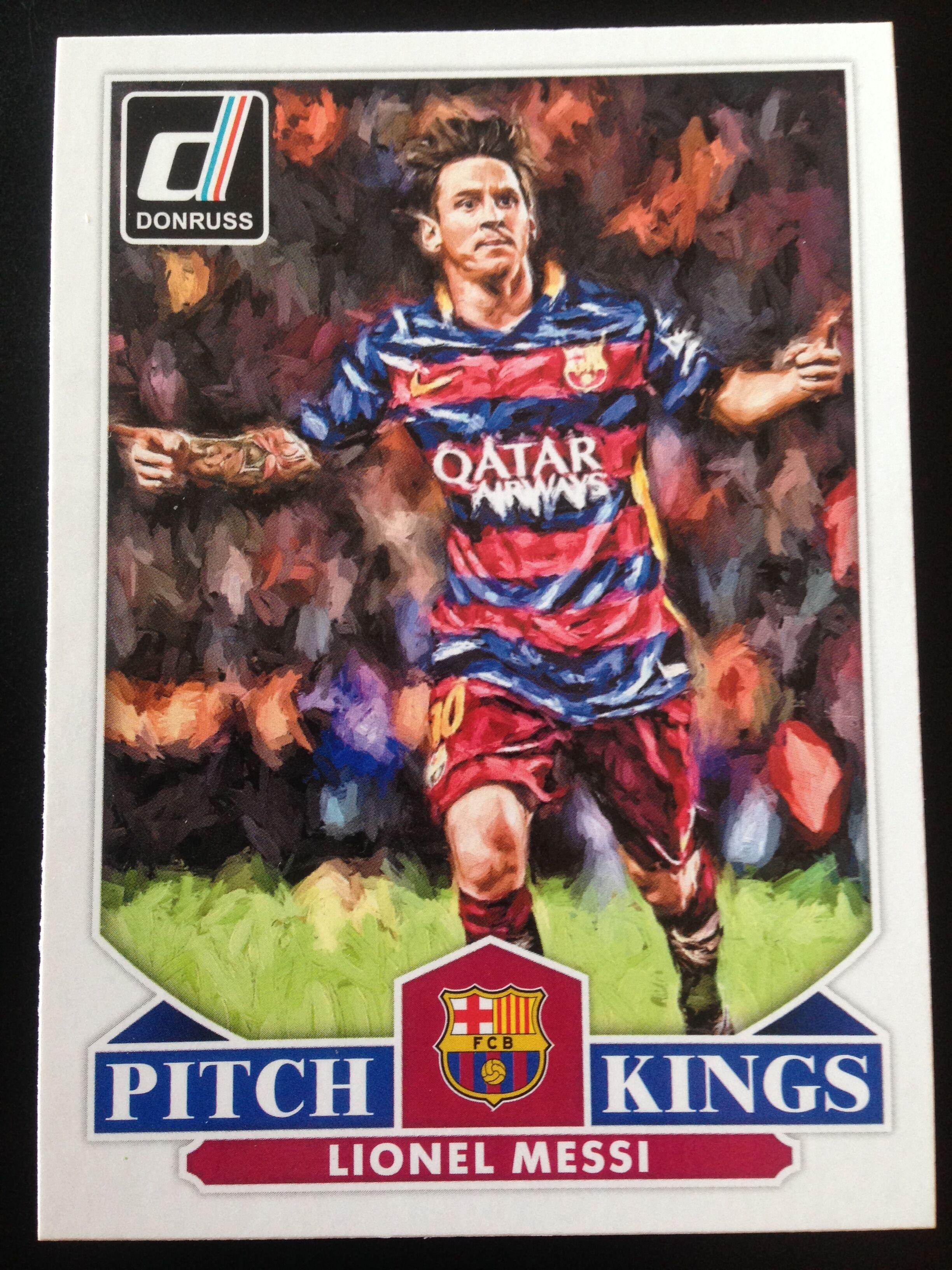 2015 donruss 梅西 巴塞罗那 pitch kings 特卡 no.17