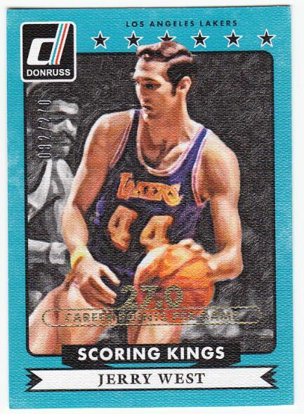 【pp拍卖】2014-15 Panini Donruss 杰里韦斯特 Scoring Kings /270