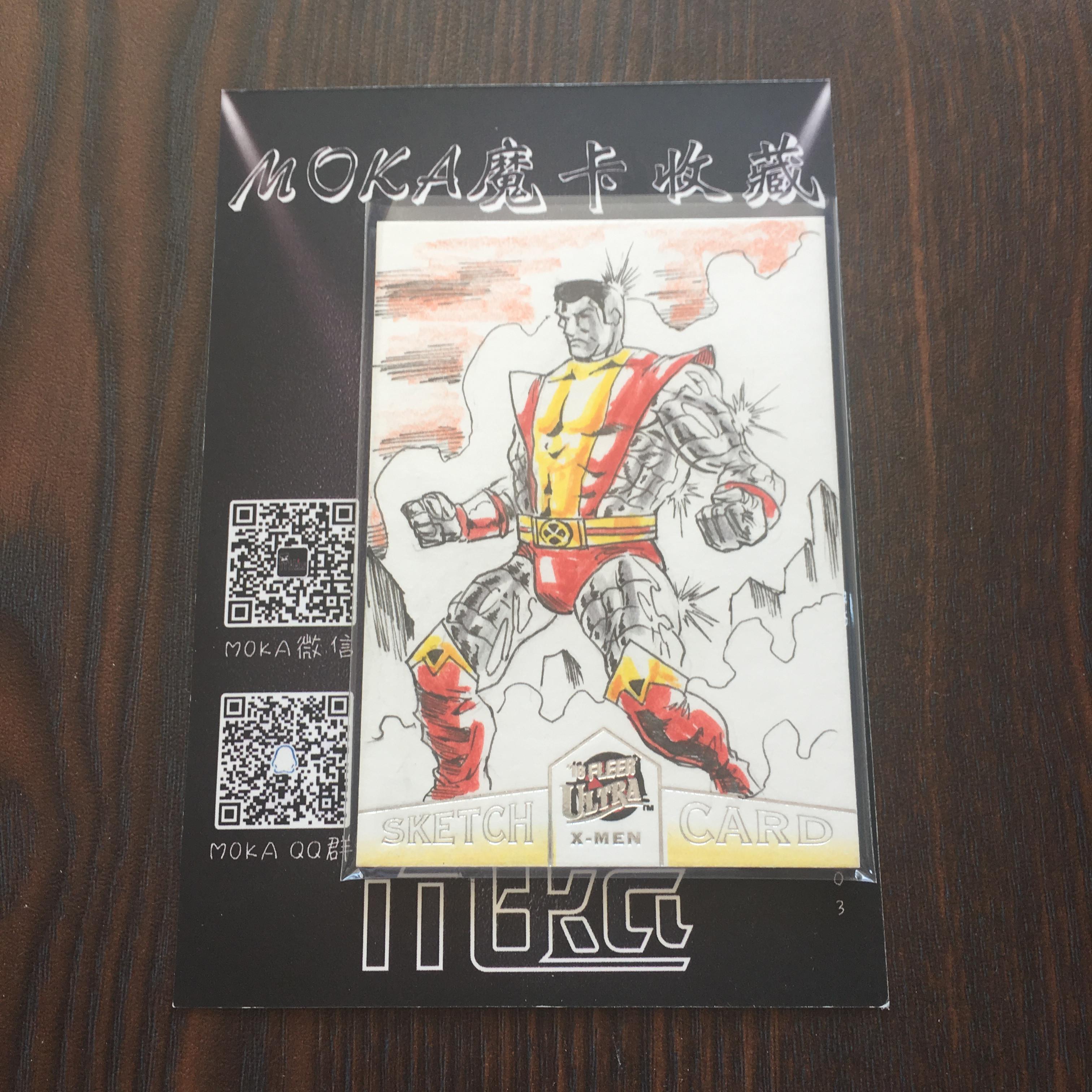 【MOKA球星卡收藏】#1804368 2018 Fleer X战警 手绘卡 艺术卡 1/1 一编 背面有画师签字