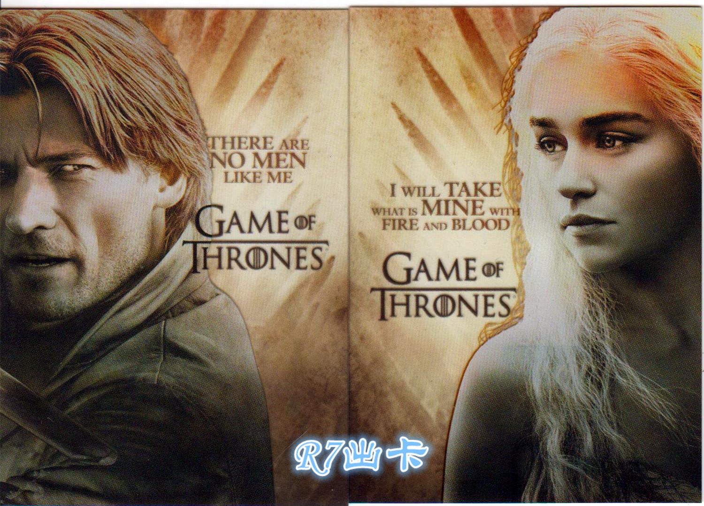 【R7出卡】美剧 权力的游戏 冰与火之歌 两张胶片特卡打包