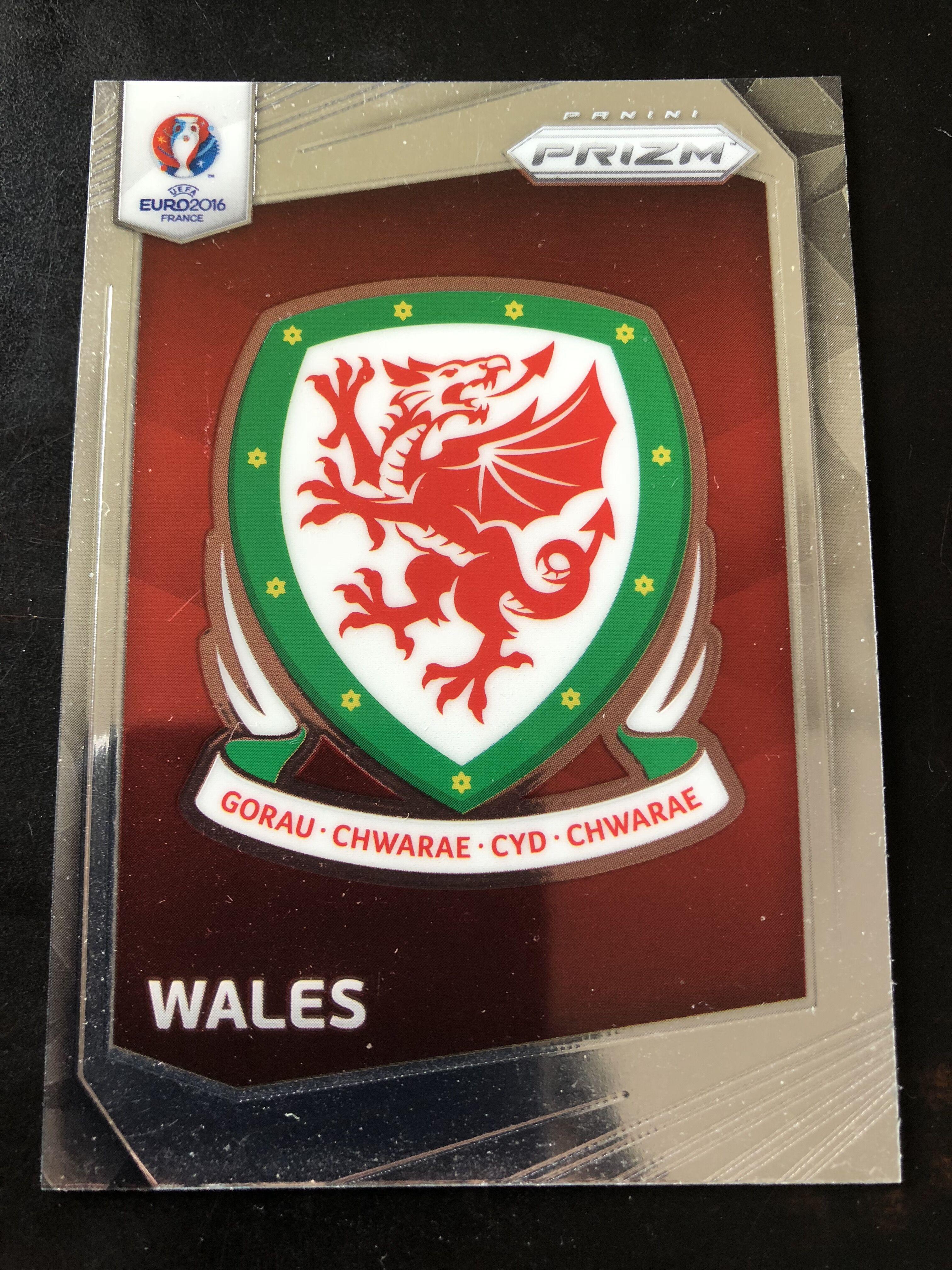2016 prizm 欧洲杯 威尔士 队徽特卡 no.21
