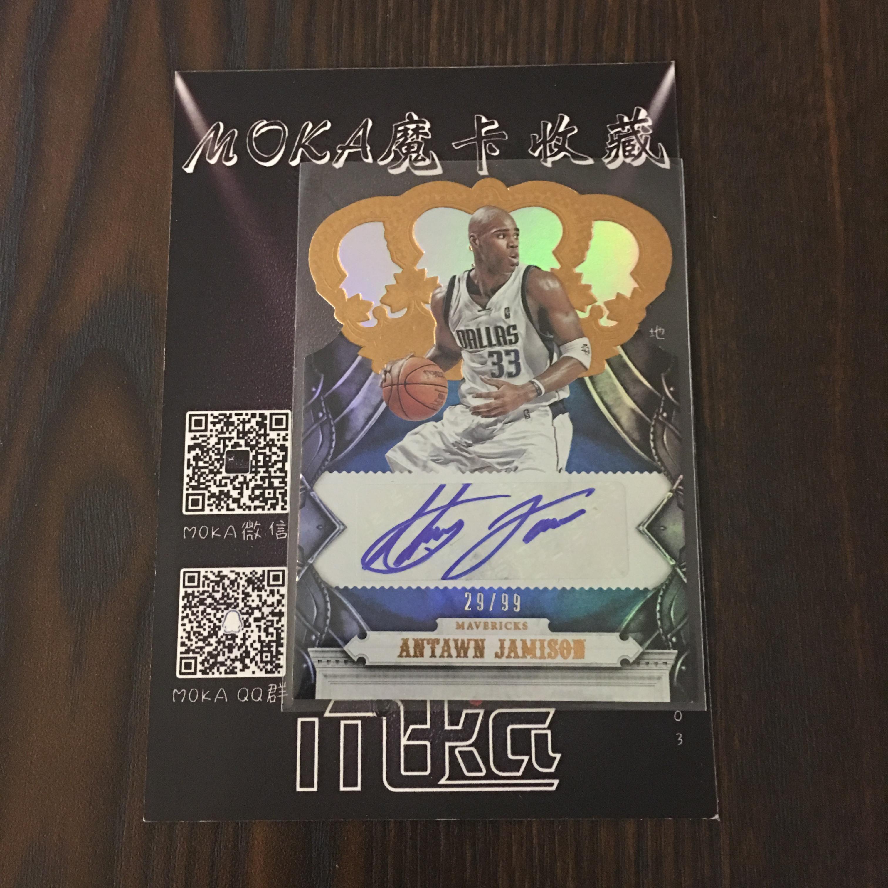 【MOKA球星卡收藏】#1804483 2017-18 Panini Crown 皇冠 小牛 独行侠 贾米森 签字 /99编