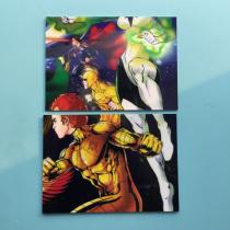 2014 CZE系列 DC美漫 英雄大battle 镜面拼图 2张一起 2#3# 拼图必备!超人 闪电侠 神奇女侠