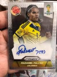 2014 panini 巴西世界杯 哥伦比亚队 老虎 法尔考 Falcao 签字 !