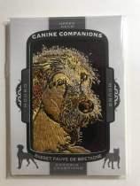 2018 UD Goodwin Champions CC143 Basset Fauve de Bretagne 小狗刺绣 法国褐毛短腿猎犬
