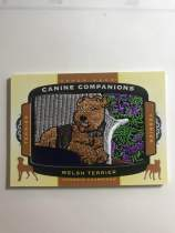 2018 UD Goodwin Champions CC138 Welsh Terrier 小狗刺绣 威尔士梗