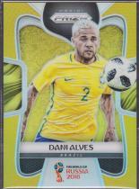 【Lucky球星卡店官方代拍-代拍甲 10.11】17-18 Panini World Cup 世界杯足球 05/10限量 金折 丹尼尔·阿尔维斯 低编限量 巴西著名右路好手