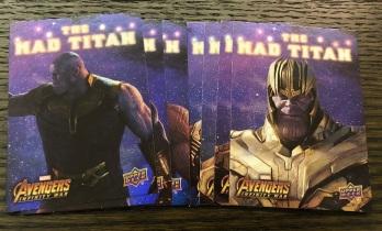 【Joker收藏卡拍卖hb】UD无限战争 The Mad Titan 灭霸个人套卡10张 讲述反派灭霸心路历程 【注意请仔细阅读描述】