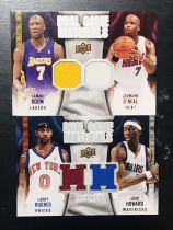 【Lucky球星卡店官方代拍-WL 10.17】09-10 Upper Deck 篮球系列 Dual Game Materials双人球衣实物卡打包!拉里·休斯和约什·霍华德,奥多姆和小奥尼尔!sp!