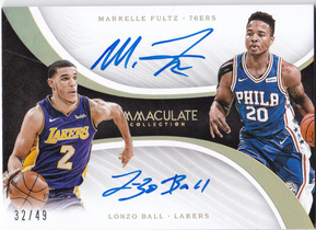 【D】2017-18 Panini Immaculate 富尔茨 鲍尔 49编新秀双签 SP
