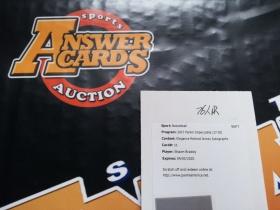 O002《答案卡世界》拍卖 1718 Impeccable 小真金 76人 大竹竿 布拉德利 限量 球衣 签字 交换板