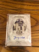 【天天卖卡】2018 Topps Star Wars MasterWork (星球大战) Jimmy Vee 签名卡 饰演 R2-D2(SSP)卡签,星战高端系列