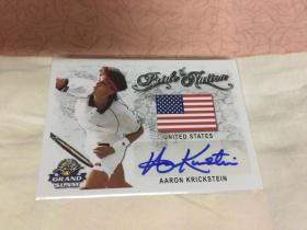 【薛之谦拍卖】Leaf出品2018末年网球盒,ATP男网美国老将阿隆克里斯坦国旗完美签