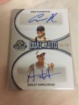 【薛之谦拍卖】Leaf出品2018末年网球盒,WTA女网名将安娜库尔尼科娃+阿什利哈克莱罗德双人完美签10/20低编