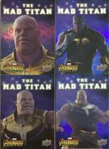 UD Marvel Avengers Infinity War 漫威 复仇者联盟3 无限战争 灭霸 the Mad Titan 折射特卡 4张打包