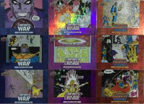 2018 UD 漫威 复仇者联盟3 无限战争 红色 紫色 蓝色 折射 漫画特卡 9张打包