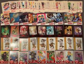 2018 DC 炮火佳丽2 base一整套!(d)64张基本base/9张Terrific(每张比例1:3)/9张蝙蝠女(每张比例1:3)/9张玩偶手绘(每张比例1:3)/9张漫画封面(每张比例1:3)共100张!
