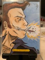 2018 UD Marvel Masterpiece 手绘 蚁人(看那个小小的)1/1 一编一 知名画师Charles Drake 绘图。完美呈现了蚁人缩小后战斗的情景!特别漂亮值得收藏!