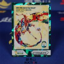 【越秀山拍卖】巴西世界杯2014-城市海报特卡 09#累西腓 14/25 经典水晶绿折-YXS830008