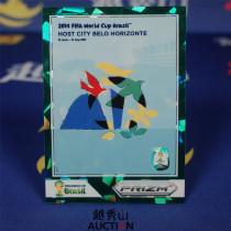 【越秀山拍卖】巴西世界杯2014-城市海报特卡 01#贝洛哈里桑塔 07/25 经典水晶绿折-YXS830010