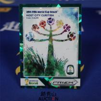 【越秀山拍卖】巴西世界杯2014-城市海报特卡 04#库里蒂巴 11/25 经典水晶绿折-YXS830011