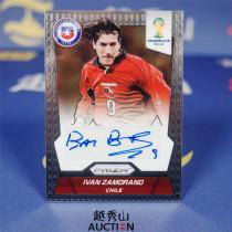 【越秀山拍卖】巴西世界杯2014-智利传奇射手 萨莫拉诺 银卡签字 皇马国米-YXS830016