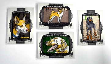 【23ING官方代卖】UD 18Goodwin系列 4张刺绣狗 打包 一张猎犬 KT5244