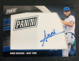 【喷子拍卖】AF 2018-19 panini 黑色星期五 棒球 纽约 罗萨里德 panini logo 签字 实卡很美