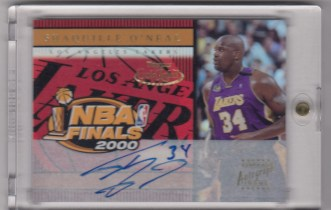 【TD】Shaquille O'Neal 奥尼尔 2000-01 Topps Gold Label NBA Finals 2000 签字
