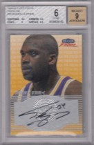 【TD】Shaquille O'Neal 奥尼尔 1999-00 Fleer Focus Fresh Ink 签字 BGS 6 /9