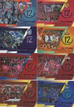 C1647 周天行 2019 中体卡业 中超联赛官方球星卡 系列 第十二人 大比例 闪亮特卡 8张一起出 如图 超级漂亮 超级经典
