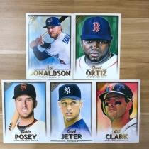 【23ING官方代卖】Topps GALLERY系列 棒球明星肖像大卡 打包 凑套必备 KT12580(大卡卡品一般,介意勿拍)
