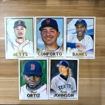【23ING官方代卖】Topps GALLERY系列 棒球明星肖像大卡 打包 凑套必备 KT12581(大卡卡品一般,介意勿拍)