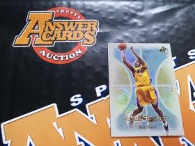 X007《答案卡世界》拍卖 2001 UD SPA 湖人传奇 科比 布莱恩特 大比例 折射 特卡!!!