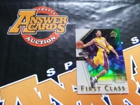 X007《答案卡世界》拍卖 2001 UD SPA 湖人传奇 科比 布莱恩特 折射 特卡!!!