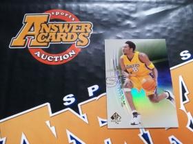 X007《答案卡世界》拍卖 2001 UD SPA 湖人传奇 科比 布莱恩特 A5 折射 特卡!!!
