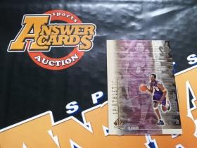 X007《答案卡世界》拍卖 2000 UD SPA 湖人传奇 科比 布莱恩特 金属设计 大比例 折射 特卡!!!