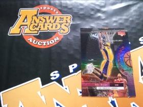 X007《答案卡世界》拍卖 2000 UD ENCORE 湖人传奇 科比 布莱恩特 J8 折射 特卡!!!