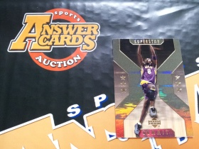 X007《答案卡世界》拍卖 2002 UD 湖人传奇 科比 布莱恩特 SS1 折射 特卡!!!卡品如图