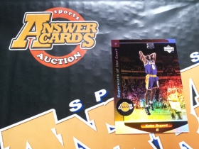 X007《答案卡世界》拍卖 1998 UD球皮系列 湖人传奇 科比 布莱恩特 C8 折射 特卡!!!