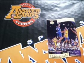 X007《答案卡世界》拍卖 1998 UD系列 湖人传奇 科比 布莱恩特 切割 特卡!!!