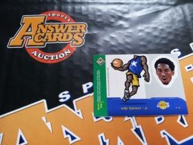 X007《答案卡世界》拍卖 9798 UD CC 湖人传奇 科比 布莱恩特 手工插片 特卡!!!可以做摆件