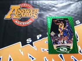 X007《答案卡世界》拍卖 9798 UD CC 湖人传奇 科比 布莱恩特 绿色二星 特卡!!!