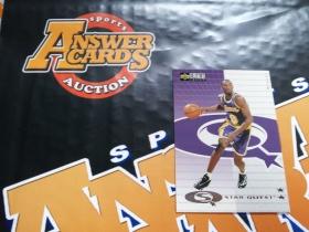 X007《答案卡世界》拍卖 9798 UD CC 湖人传奇 科比 布莱恩特 二星 特卡!!!科比当年只有二星级别特卡